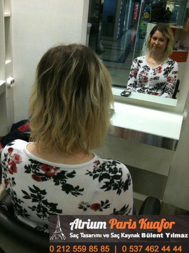 long bob saç modeli